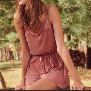 Urban Outfitters metallic rose Bette romper S